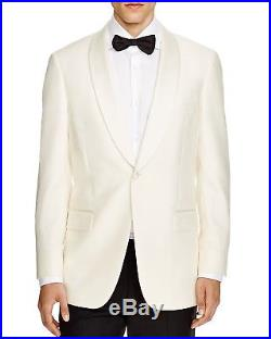 $1095 HART SCHAFFNER MARX Mens Classic Fit Wool Tuxedo Suit Jacket White USA 40R
