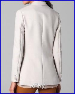 3.1 Phillip Lim Peaked Combo Lapel Tuxedo Jacket Withvents in Oyster 4 NWT