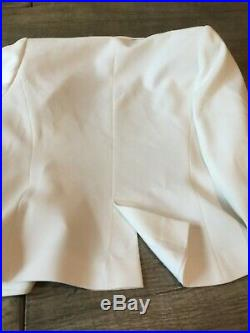 Anne Fontaine white tux style jacket size 40