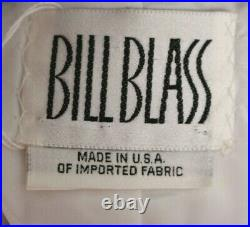 BILL BLASS Vintage Black & White Abstract Print Quilted Crepe Jacket 8