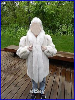 Blush Dyed Mink Jacket with Blush Dyed Fox Tuxedo Excellent Condition