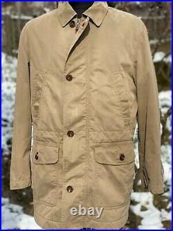 Brioni Sport Trench Coat Jacket buttons Casual Jacket size M Cream Parka