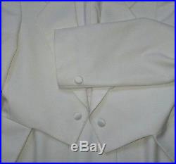 Christian Dior center vent off white tuxedo tailcoat tail jacket 36 S
