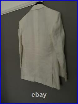 Gieves and hawkes Linen White Tuxedo Dinner Jacket Savile Row RRP £1200 Italy