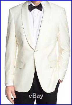 Hart Schaffner Marx White/ Ivory Classic Fit Dinner/tuxedo Jacket 42L USA Made