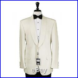 Ivory Off White Dinner Jacket D. J Shawl Lapel 1 Button Cream Coat All sizes