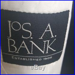 JOS. A. BANK WHITE SHAWL COLLAR ONE BUTTON DINER JACKET CENTER VENT 100% WOOL 44S