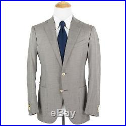 LNWOT Zegna Mila Brown White Cotton Houndstooth Dual Vents 2Btn Jacket 40R