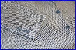 Mens 42 R Brioni Mini Hounds Tooth Black and White Sport Jacket Silk / Wool