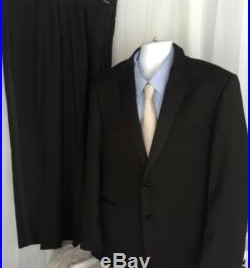 Mens Black Tuxedo 46r Dinner Jacket With Pants Wedding Prom Cruise 2 Button