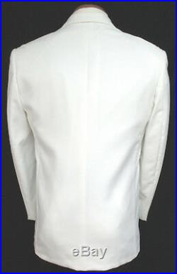 Mens White Jean Yves Fitted Essentials Modern Slim Fit Tuxedo or Dinner Jacket