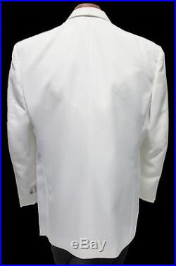 NEW Mens Size 56 Long Classic White 2 Button Shawl Jacket Formal Church Wedding