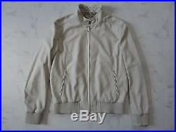 NWT Brioni Sartorial Bomber Leather Jacket with Hand Made Size52 White