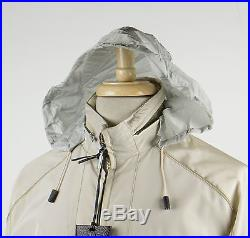 New. BRIONI Beige Silk Blend With Leather Trimmings Bomber Jacket 50/40 R $3500
