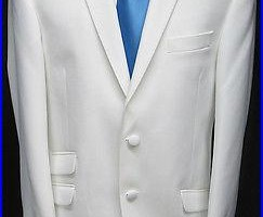 New White The Situation Tuxedo Dinner Jacket Slim Fit Wedding Prom Cruise 42L