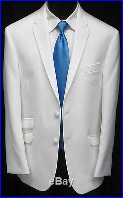 New White The Situation Tuxedo Dinner Jacket Slim Fit Wedding Prom Cruise 43R