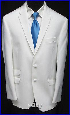 New White The Situation Tuxedo Dinner Jacket Slim Fit Wedding Prom Cruise 44S