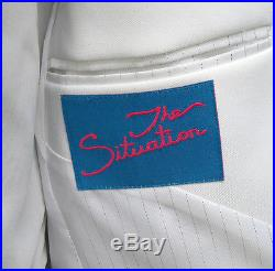 New White The Situation Tuxedo Dinner Jacket Slim Fit Wedding Prom Cruise 50R