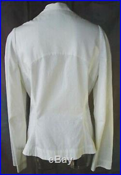 Vivienne Westwood Anglomania Cross My Heart White Cotton Dressy Tux Jacket 8