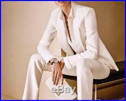 White Women Ladies Formal Office Business Suits Jacket+Pants New Tuxedos Bespoke